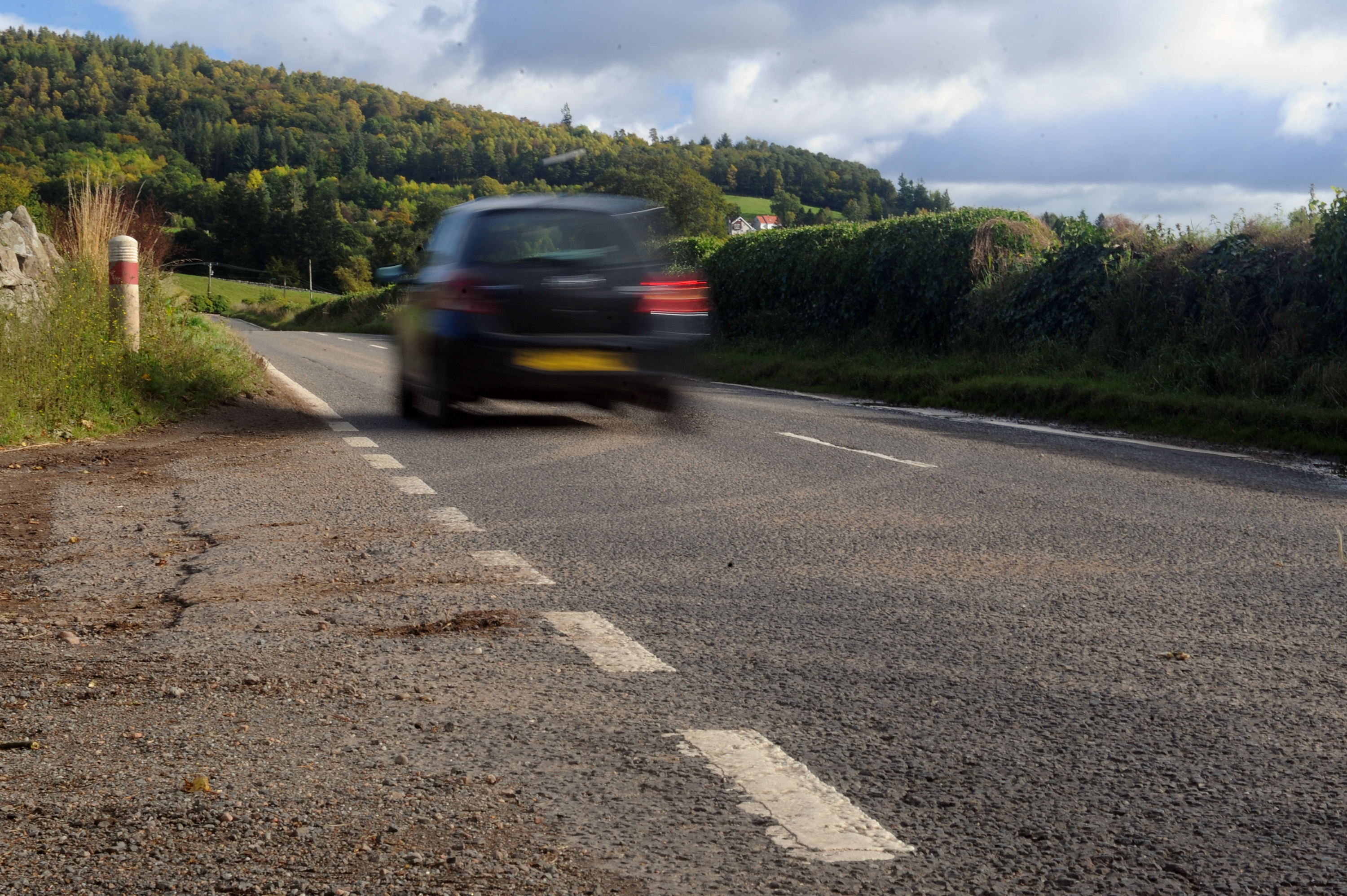 The A85 between Crieff and Comrie.