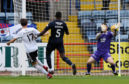 Lawrence Shankland opens the scoring for Ayr.