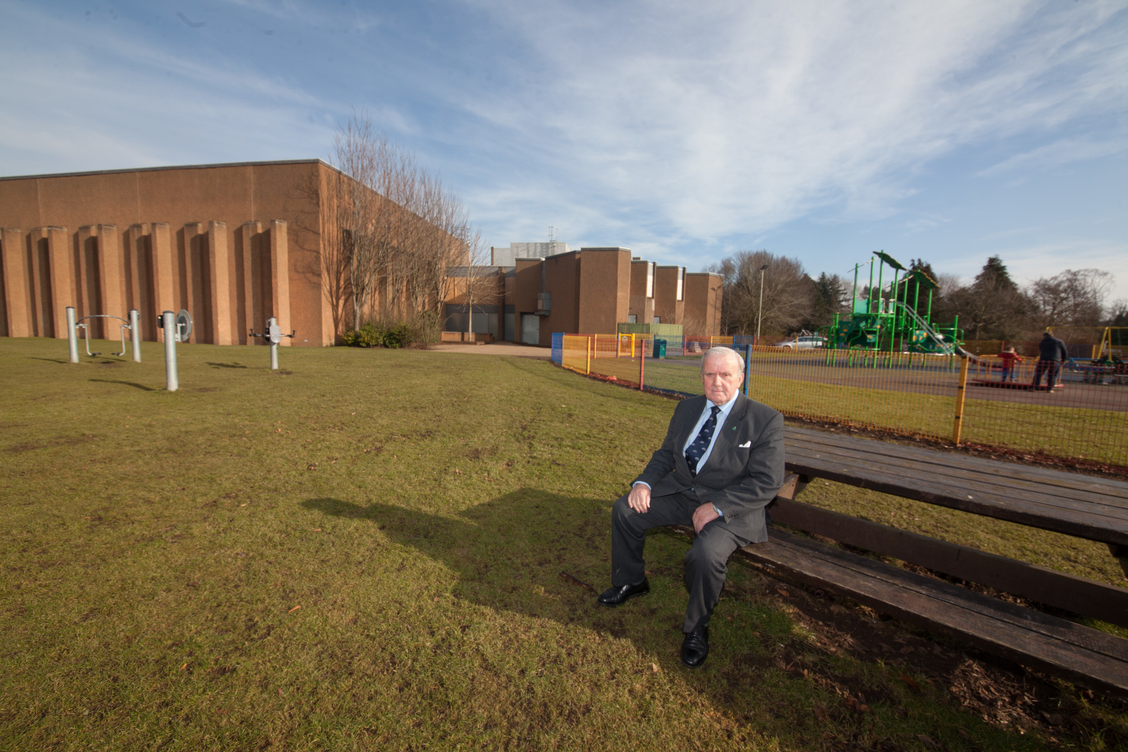 Forfar councillor Colin Brown outside the Lochside Leisure Centre.