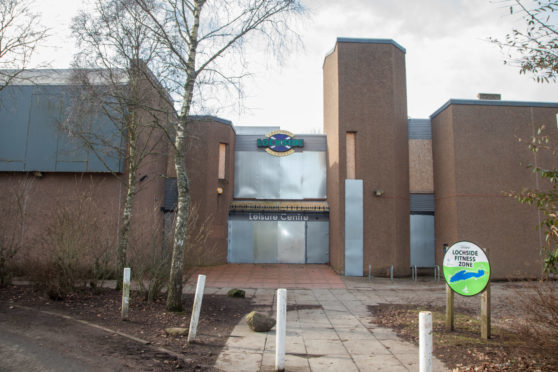 The boarded-up Lochside Leisure Centre in Forfar.
