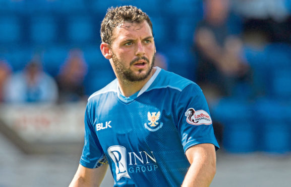 Drey Wright in action for St Johnstone.