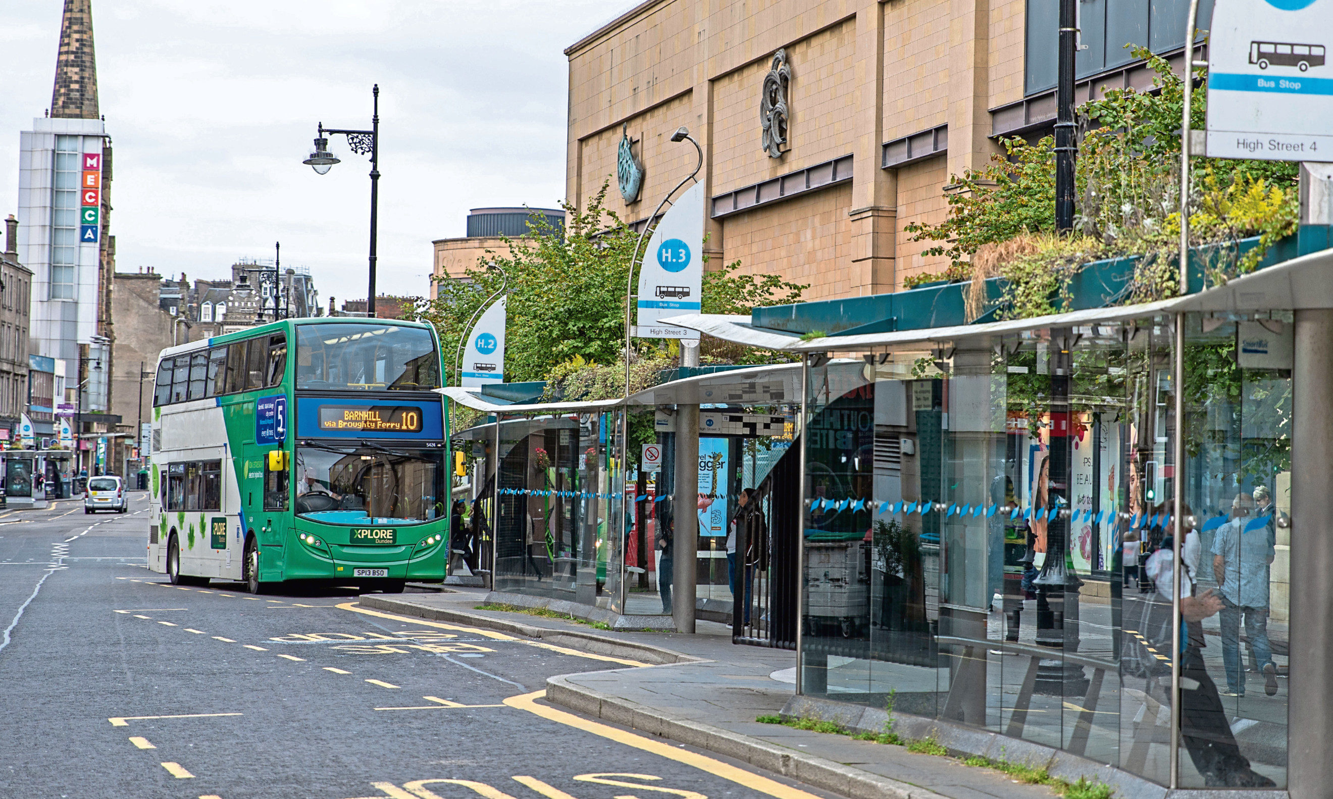 The number 10 bus arriving at the City Centre had to be cancelled.