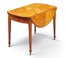 The 18th Century Pembroke table, which fetched £7500.