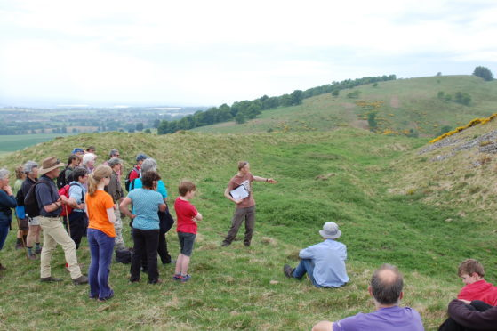 Barry Hill of Perth and Kinross Heritage Trust leading a guided walk.