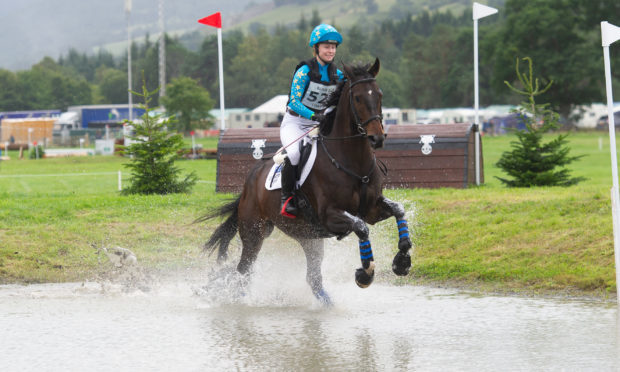 Day one of Blair Castle International Horse Trials. Picture Shows; Olivia Charles on Lenamore Echo Fort in the SCBE 100 Open cross country, Blair Atholl Castle, Blair Atholl.