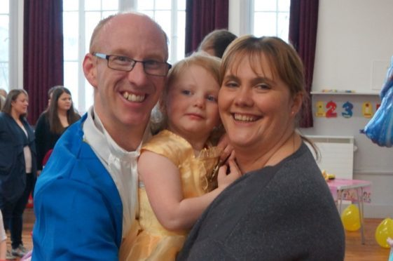 Dad Colin with Charlotte and Victoria Richmond.