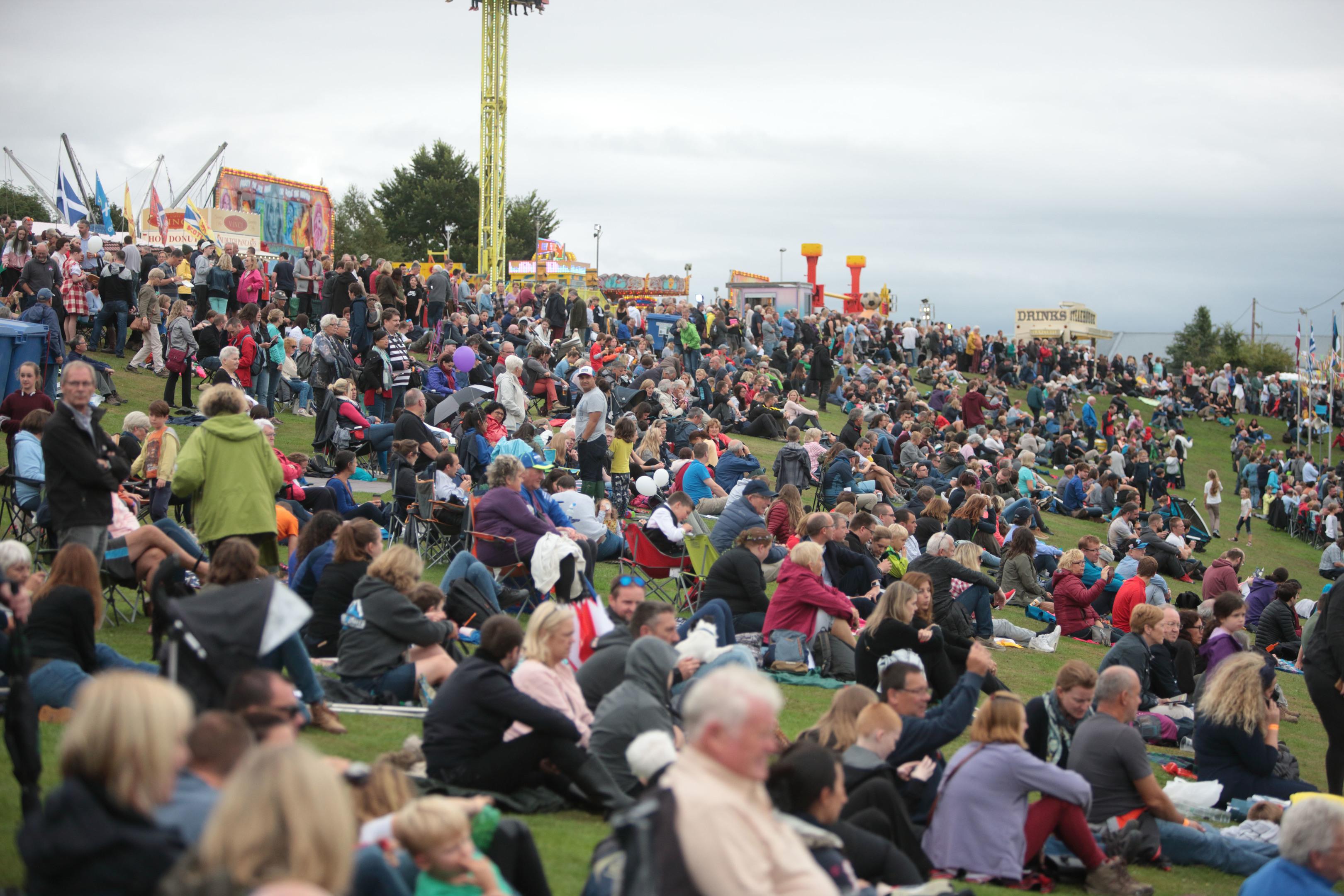 Busy Crieff Highland Games.