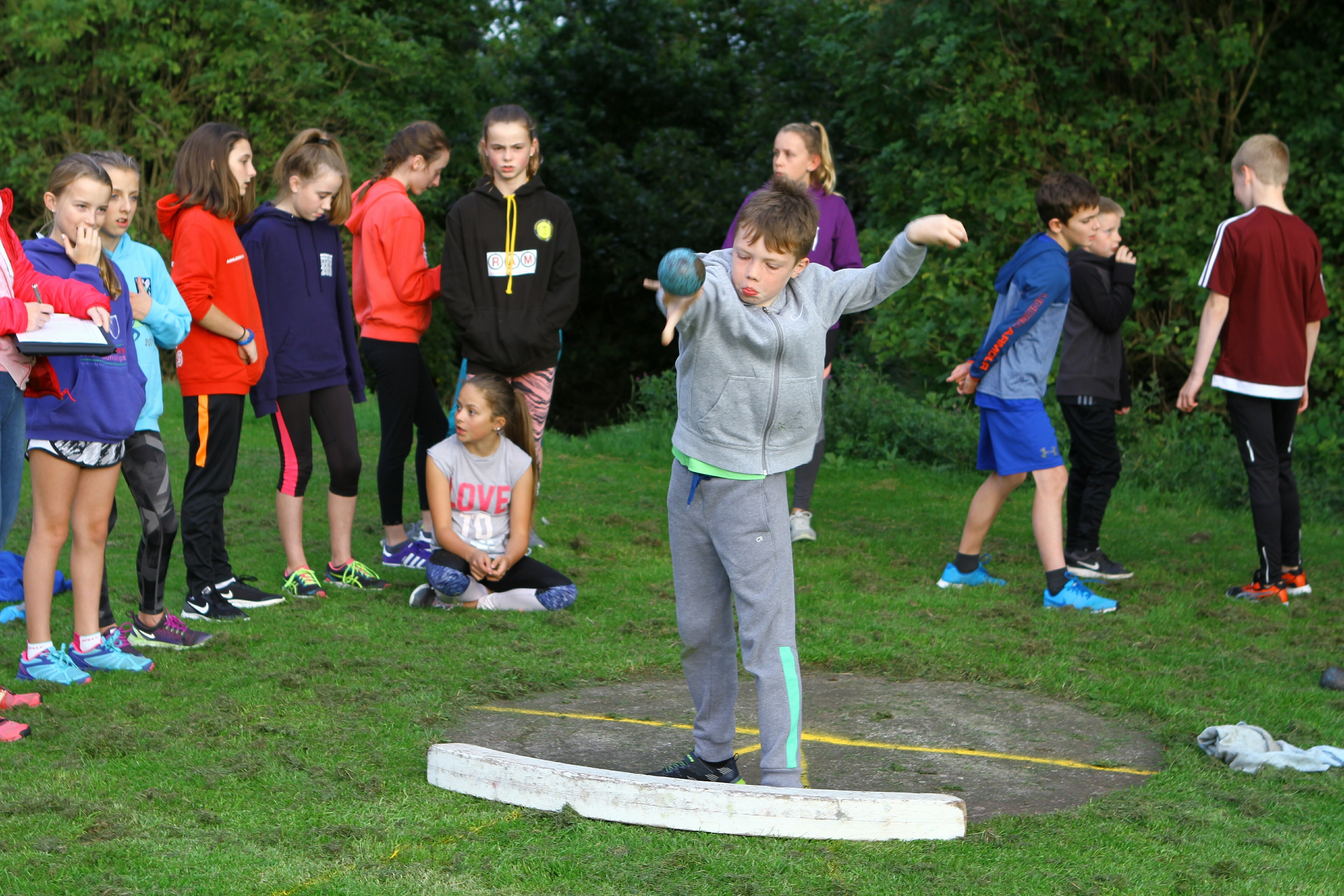 Youngsters taking part in the Arbroath and District Athletics Club pentathlon event at the Arbroath Sports Centre