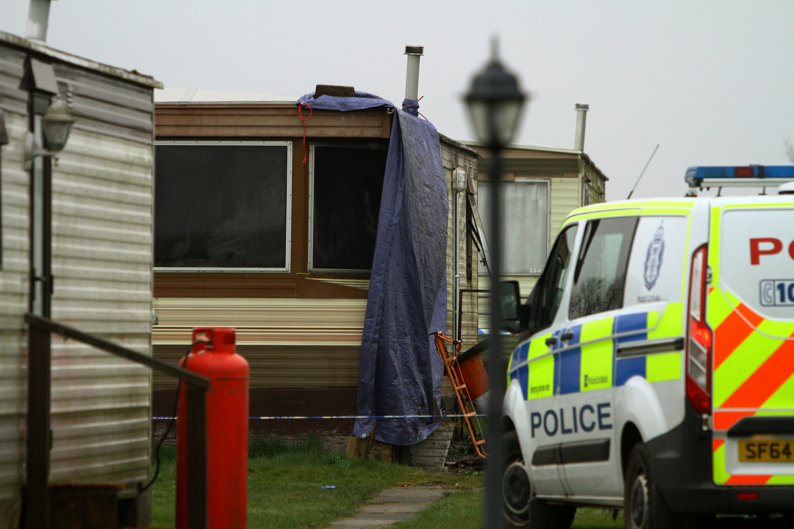 The scene of the April tragedy at Woodley on the outskirts of Arbroath