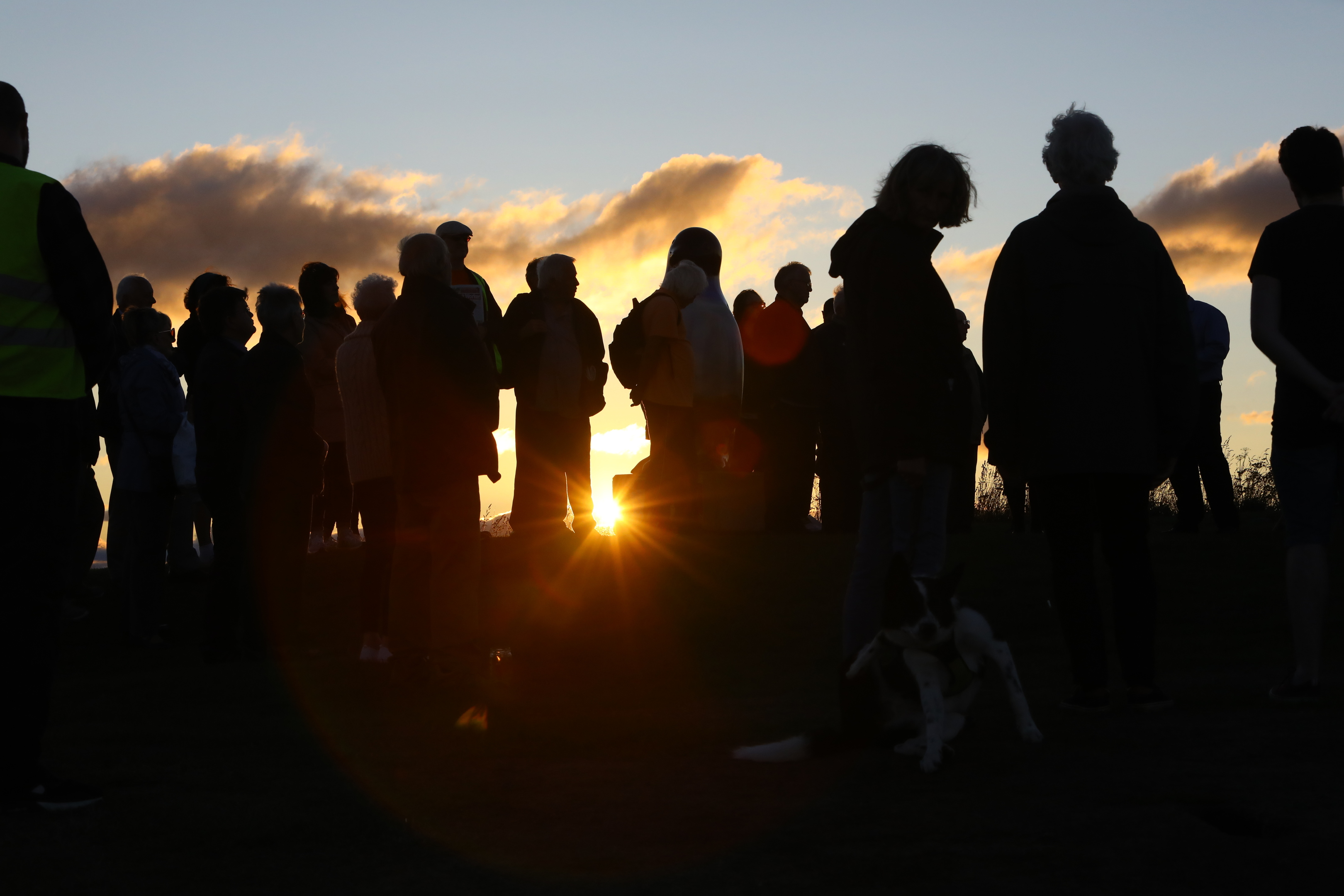 The vigil on Dundee Law.