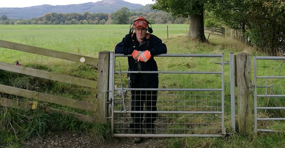 David McKeggie has been volunteered for his work on paths in the community.