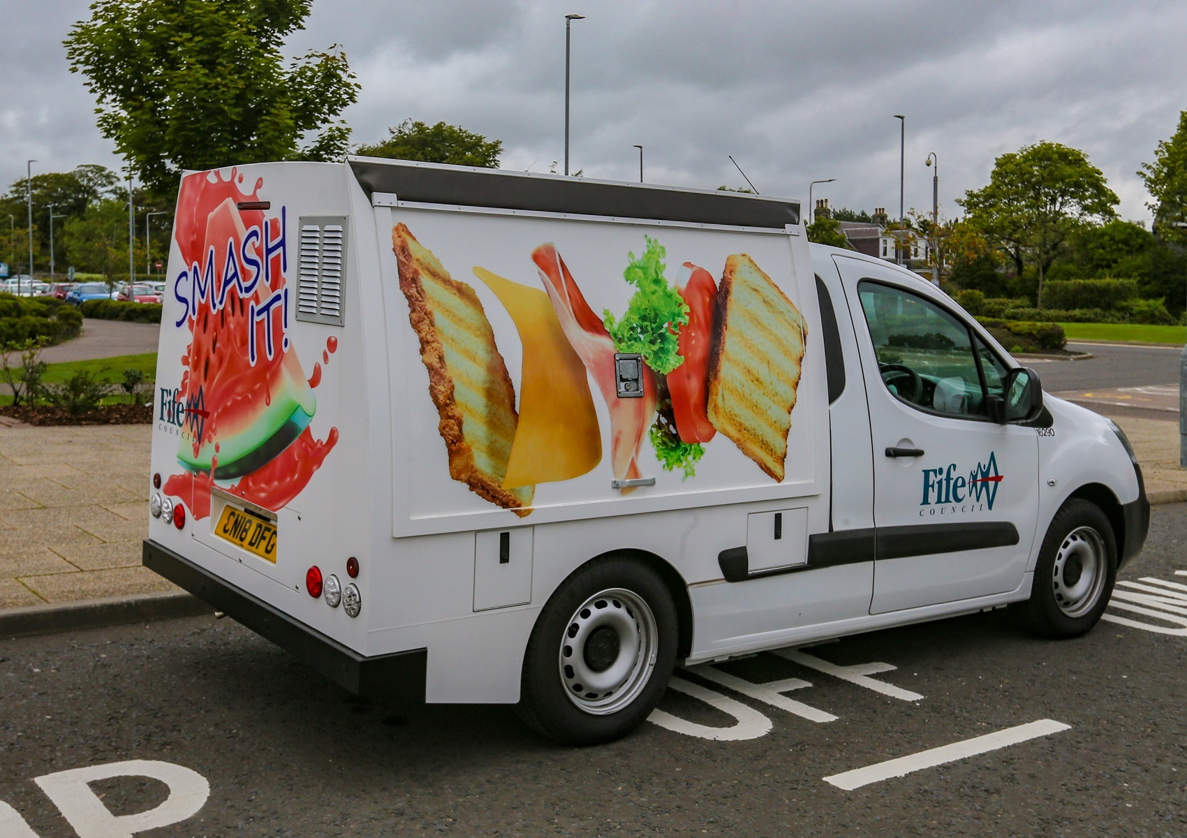 One of the vans