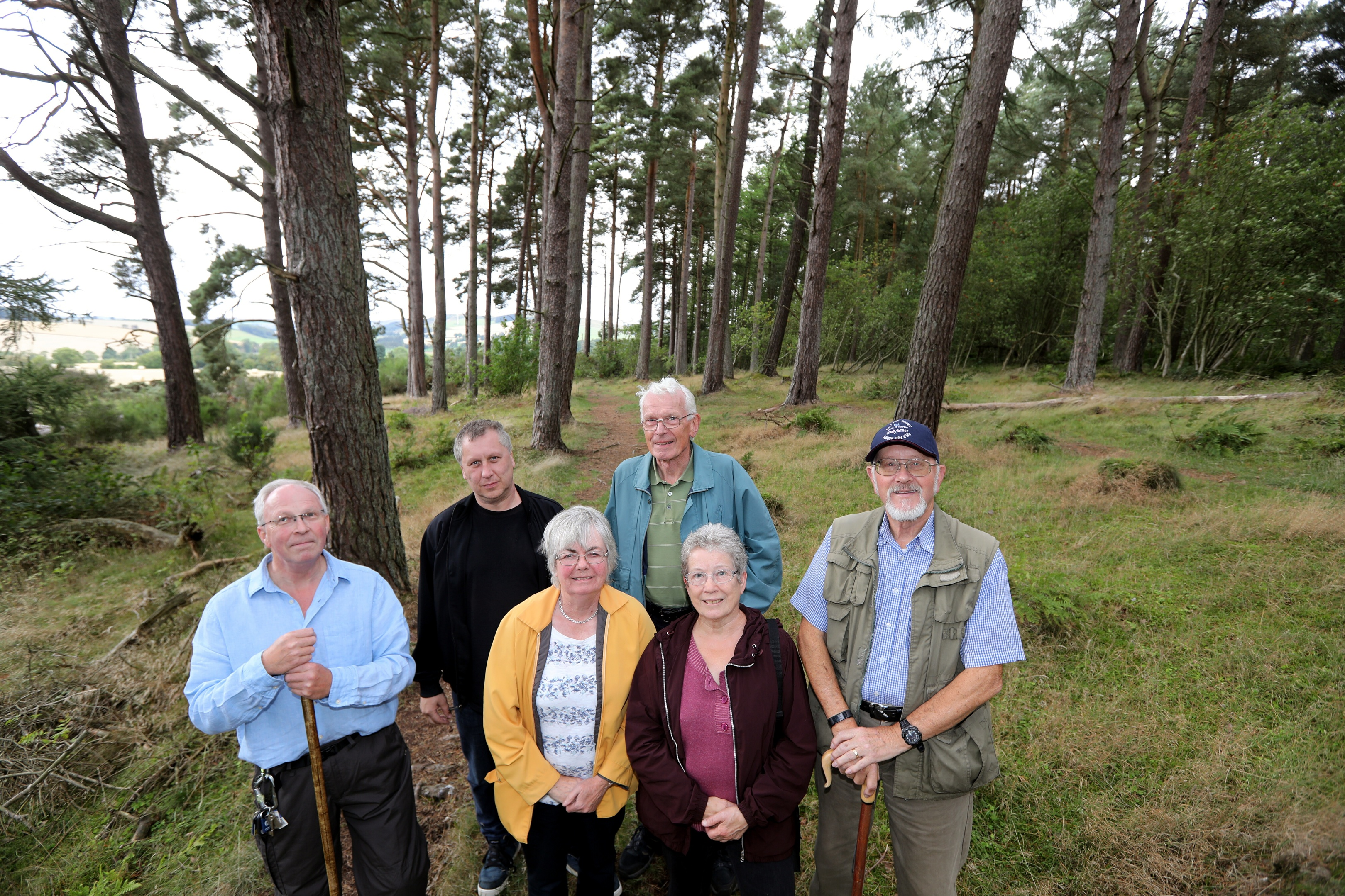 Members of the Dronley Wood Community Group, from left, Roderick Stewart, Scott McDermott, Shiona Baird, Gary Stewart, Linda Cochrane and Ian Wilson.