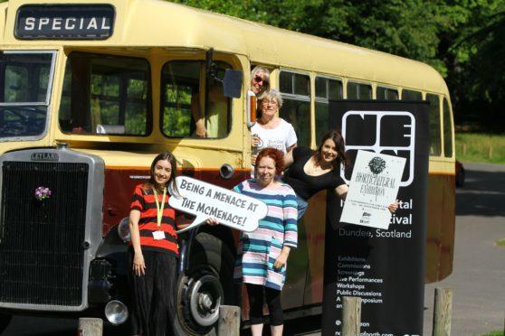 Jennifer Lamont (McManus Gallery), Donna Holford-Lovell ( NeoN), Erin Farley (Dundee Libraries) Prue Watson (Dundee Womens Festival)  & Cllr Anne Rendall