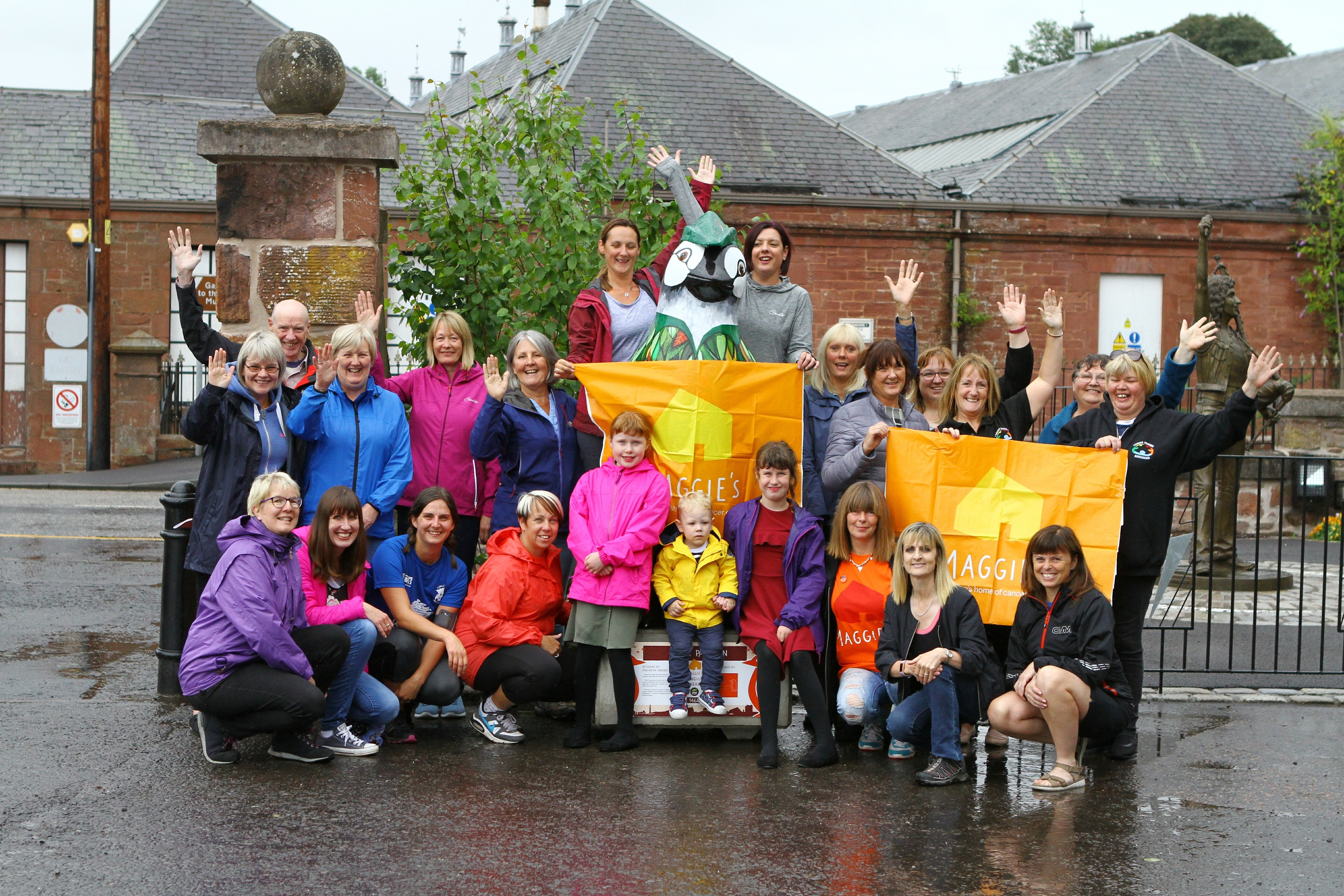 The group pictured at the start of the challenge.