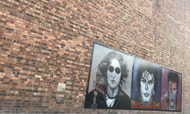 The Mill Street wall where the giant artwork is planned.