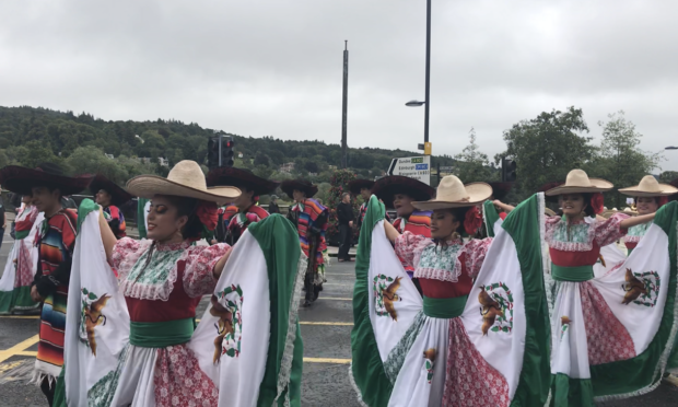 Performers from Mexico took part in this year's City of Perth Salute.