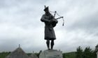 The statue in Bruar to commemorate the 51st Highland Division.