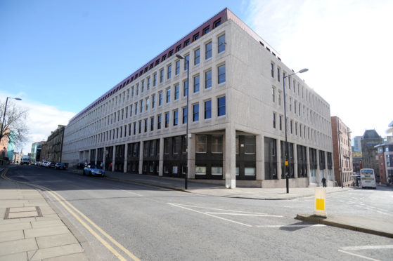 The BT building on West Bell Street, Dundee.
