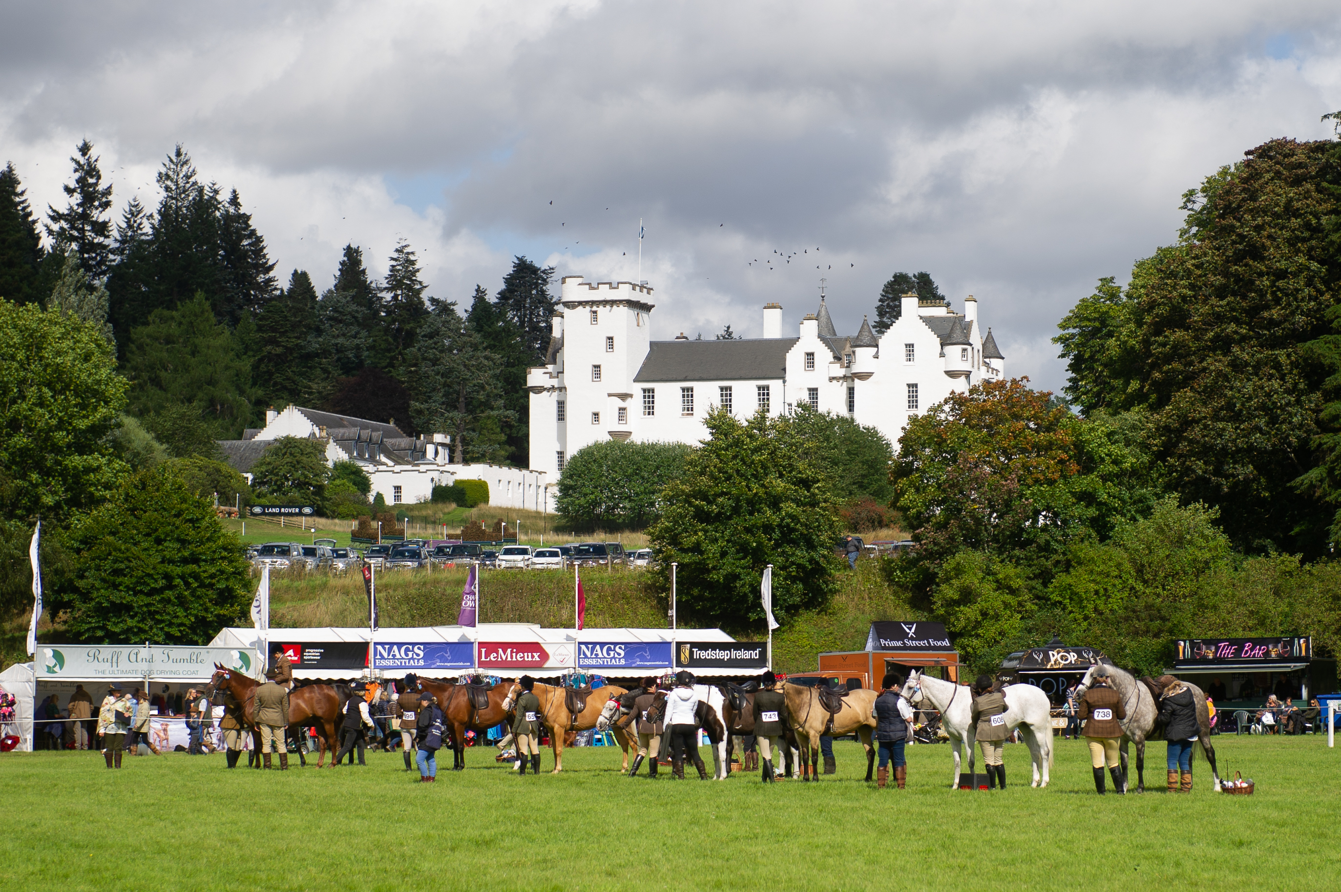 The Blair Castle International Horse Trials take place in the grounds of the Perthshire landmark.