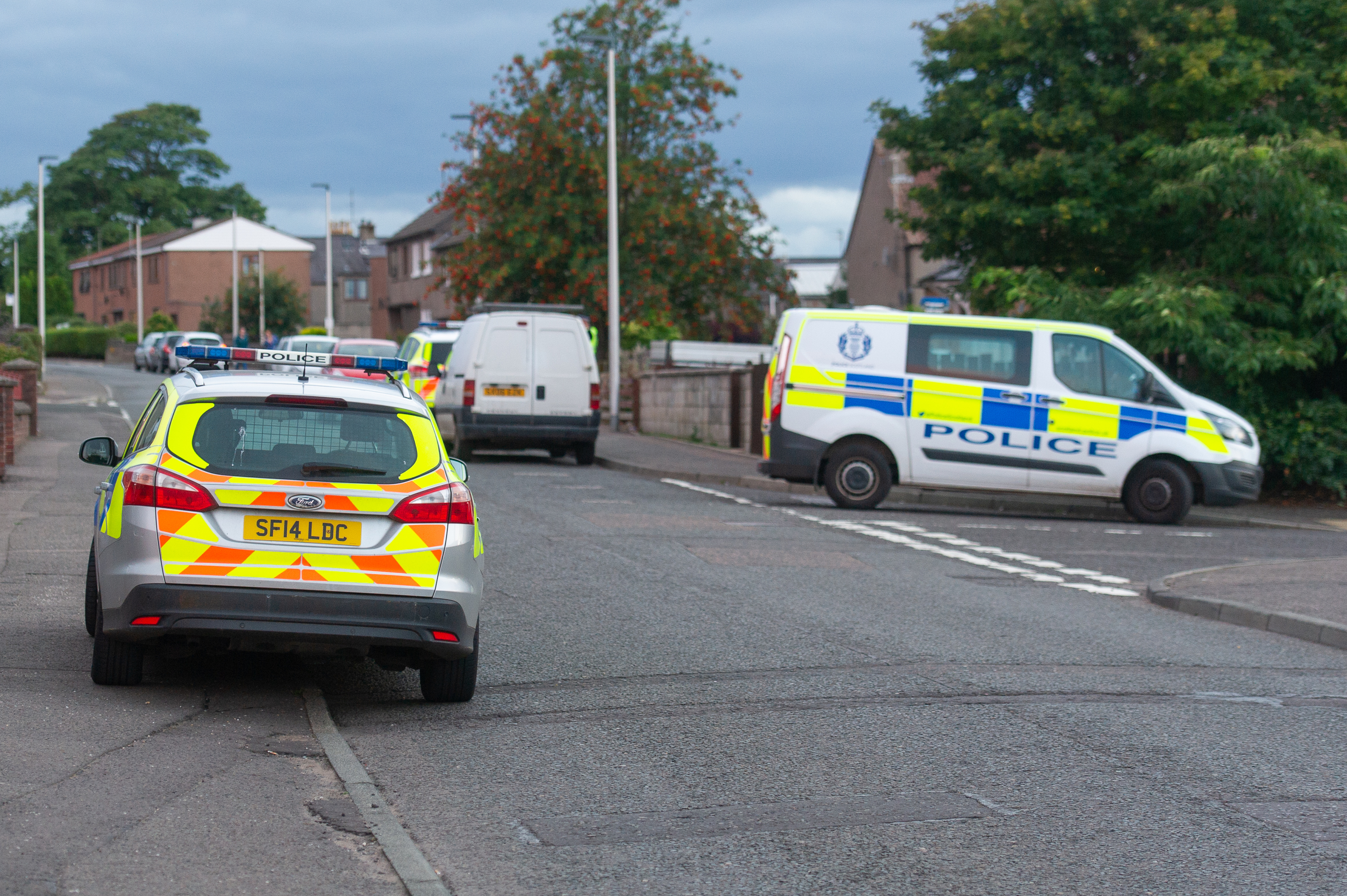 The Forfar incident prompted a major police response.