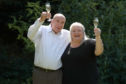 EuroMillions winners Fred and Lesley Higgins.