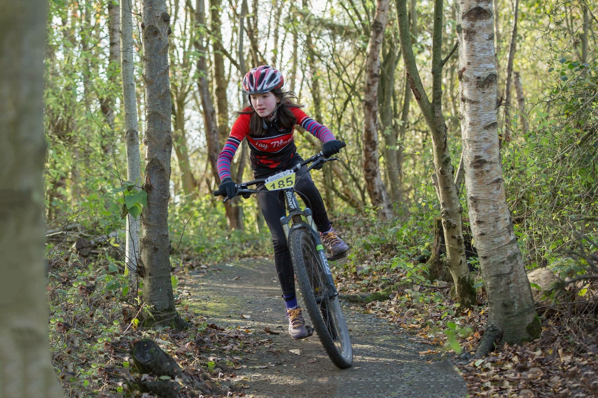 Maisie racing at Lochore Meadows.