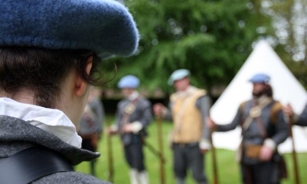 A re-enactment of the Marquis of Montrose 1640's campaign.