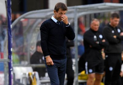 Dundee boss Neil McCann watches his team struggle.