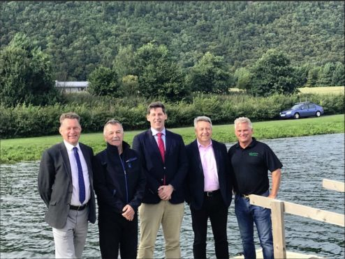 Lord Ian Duncan visited Willowgate activity centre in Perth.  From left: Murdo Fraser MSP, Jim Findlay of Willowgate, Lord Ian Duncan, Councillor Angus Forbes and Simon Clark of Willowgate.