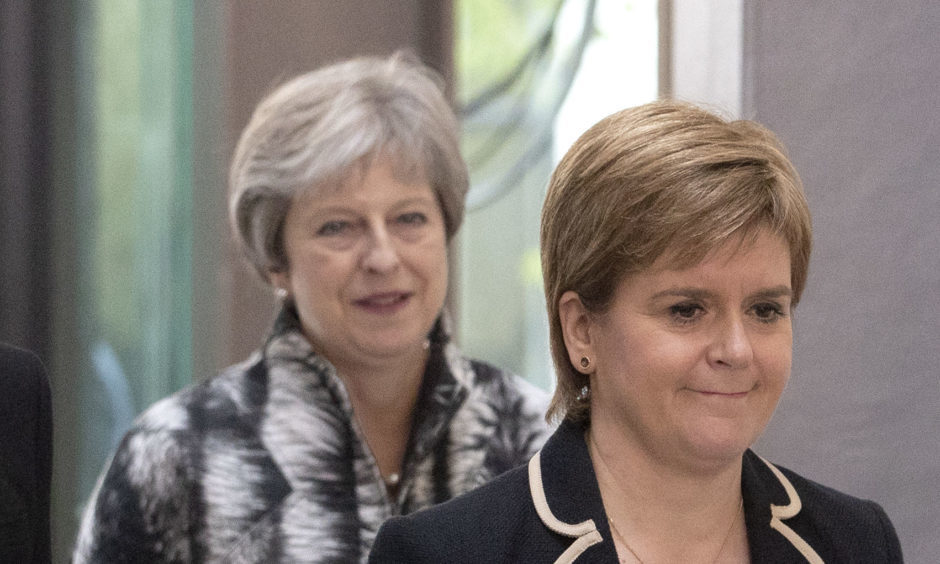 Theresa May and Nicola Sturgeon