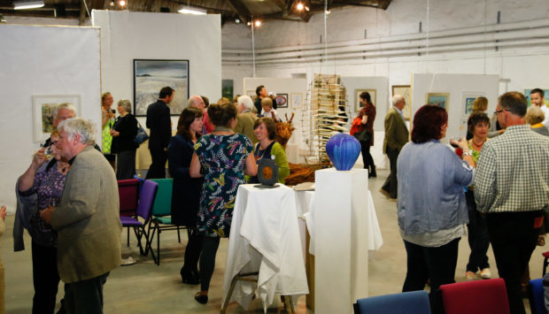 Launch night at a previous Perthshire Open Studios
