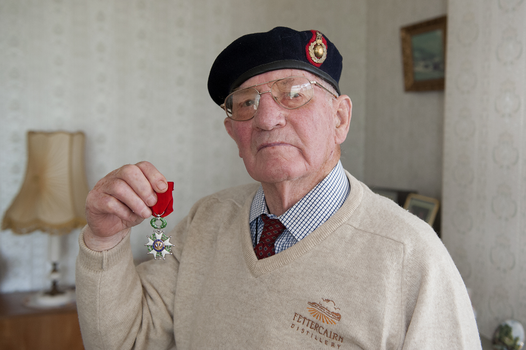 Douglas Cooper with his medal.