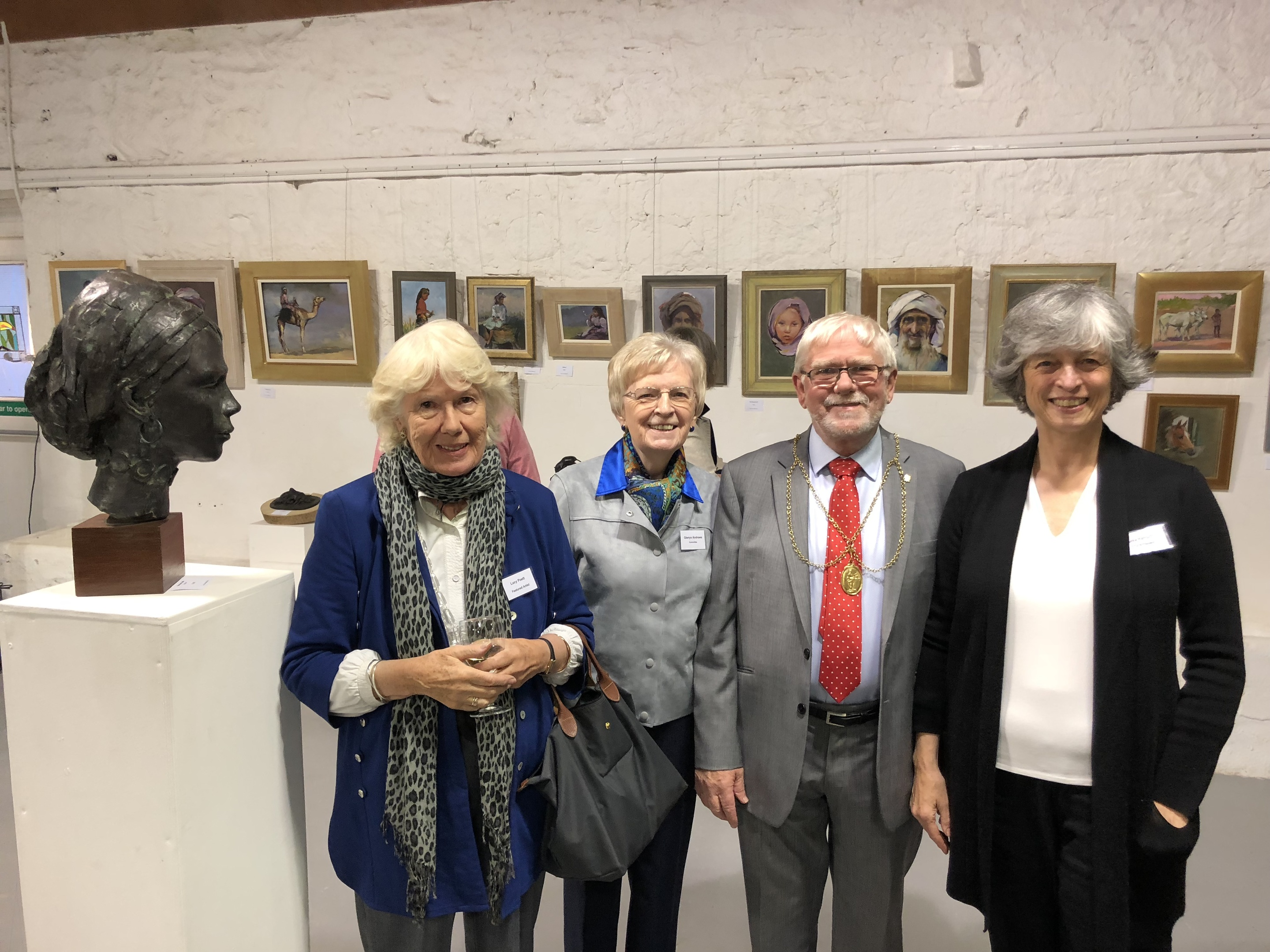 Celebrating the Perthshire Open Studios launch from left are: Lucy Poett, featured artist, Glenys Andrews, POS  president, Provost Dennis Melloy and  Luisa Ramazzotti, outgoing POS president.