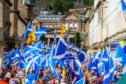 Thousands took to the streets of Dundee for a pro-independence march.