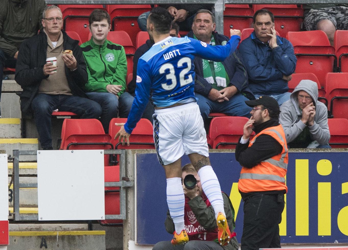 Tony Watt celebrates his goal.