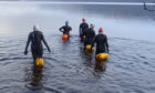 Helen Cole, Theresa Elliot, Ishbel Hayes, Angela Steel and Liz Stevens will swim the length of Loch Tay.