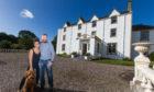 Carphin House owners Ruth and Ian Macallan with dog Hugo