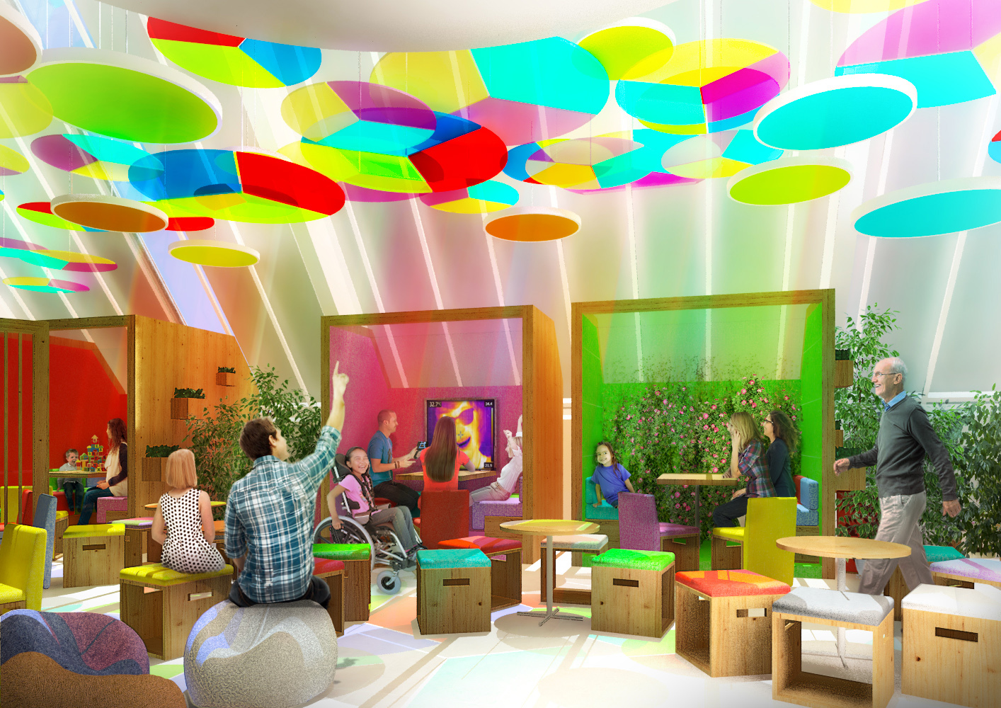 One of the new booths proposed for Dundee Science Centre.