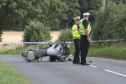 The scene of the crash on the A93 near Perth Racecourse.
