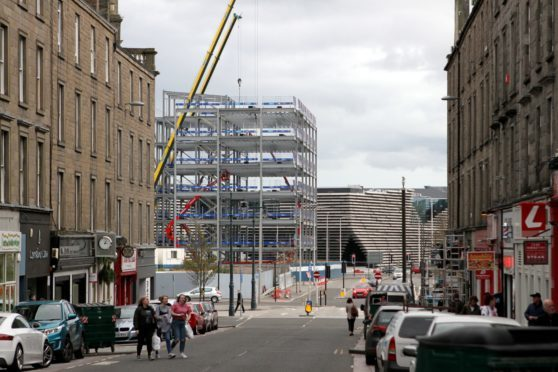 Part of the new development at site six in construction earlier this year.