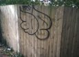Some of the graffiti which has sprung up in the Tay Bridgehead area.