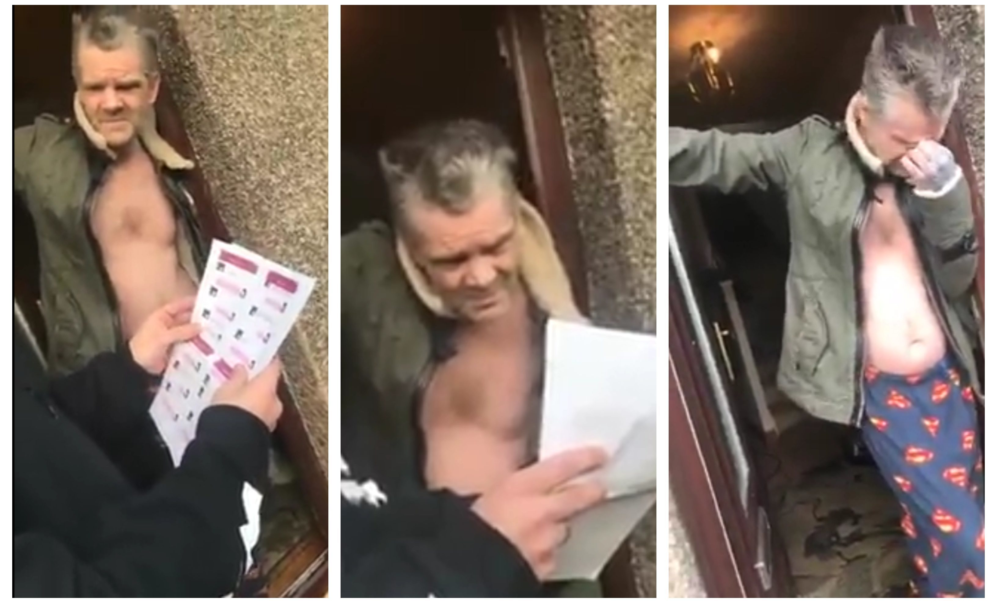 Billy Scott is confronted by the group at his home in Kirkcaldy.
