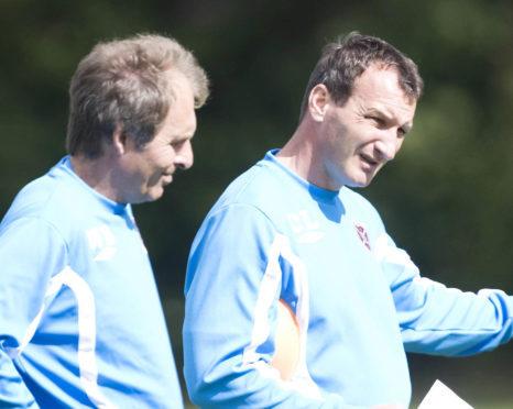 Werner Burger and Csaba Laszlo in their Hearts days.