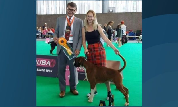 Capo is Scotland's first world champion at the show.