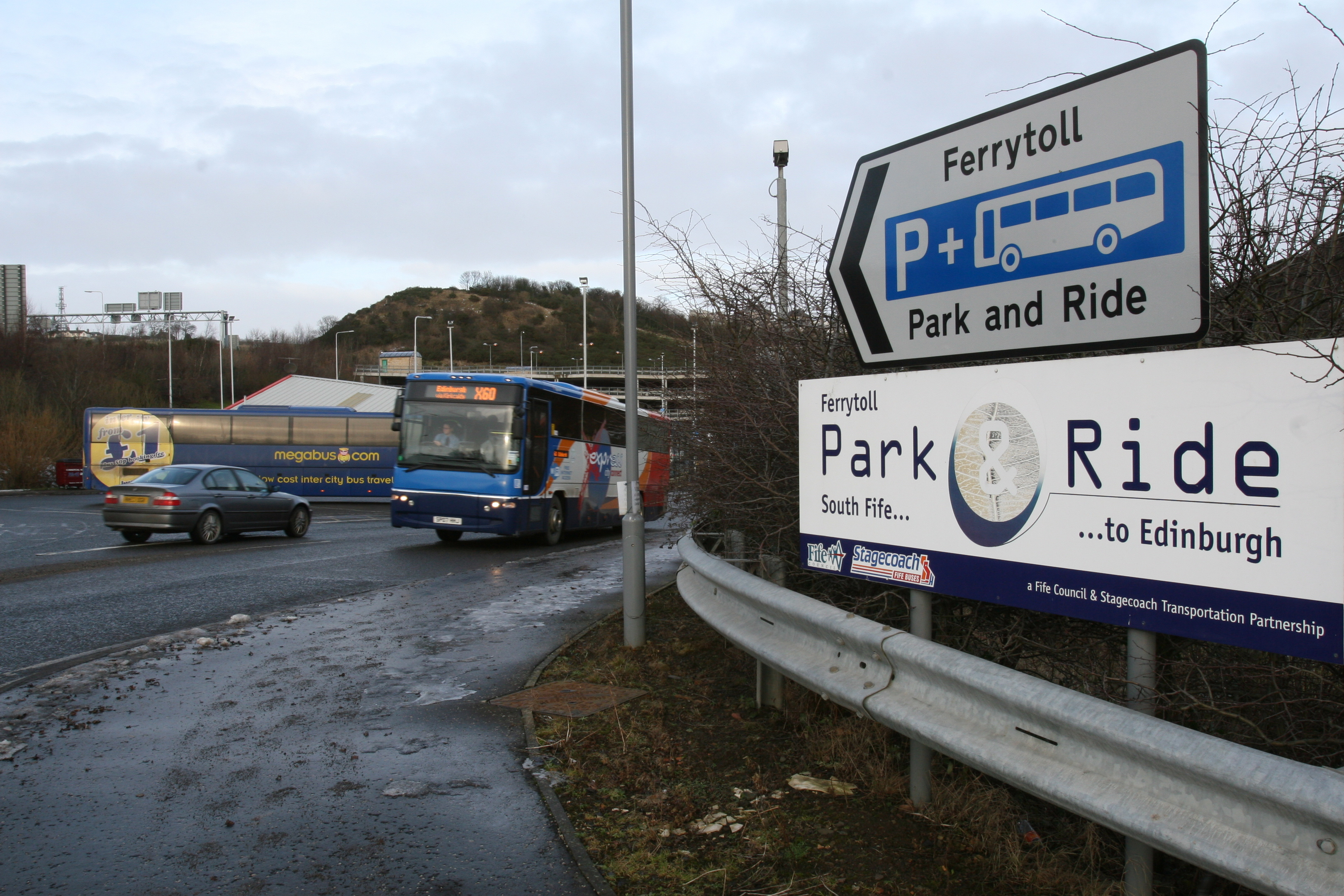 Ferrytoll Park and Ride by North Queensferry.