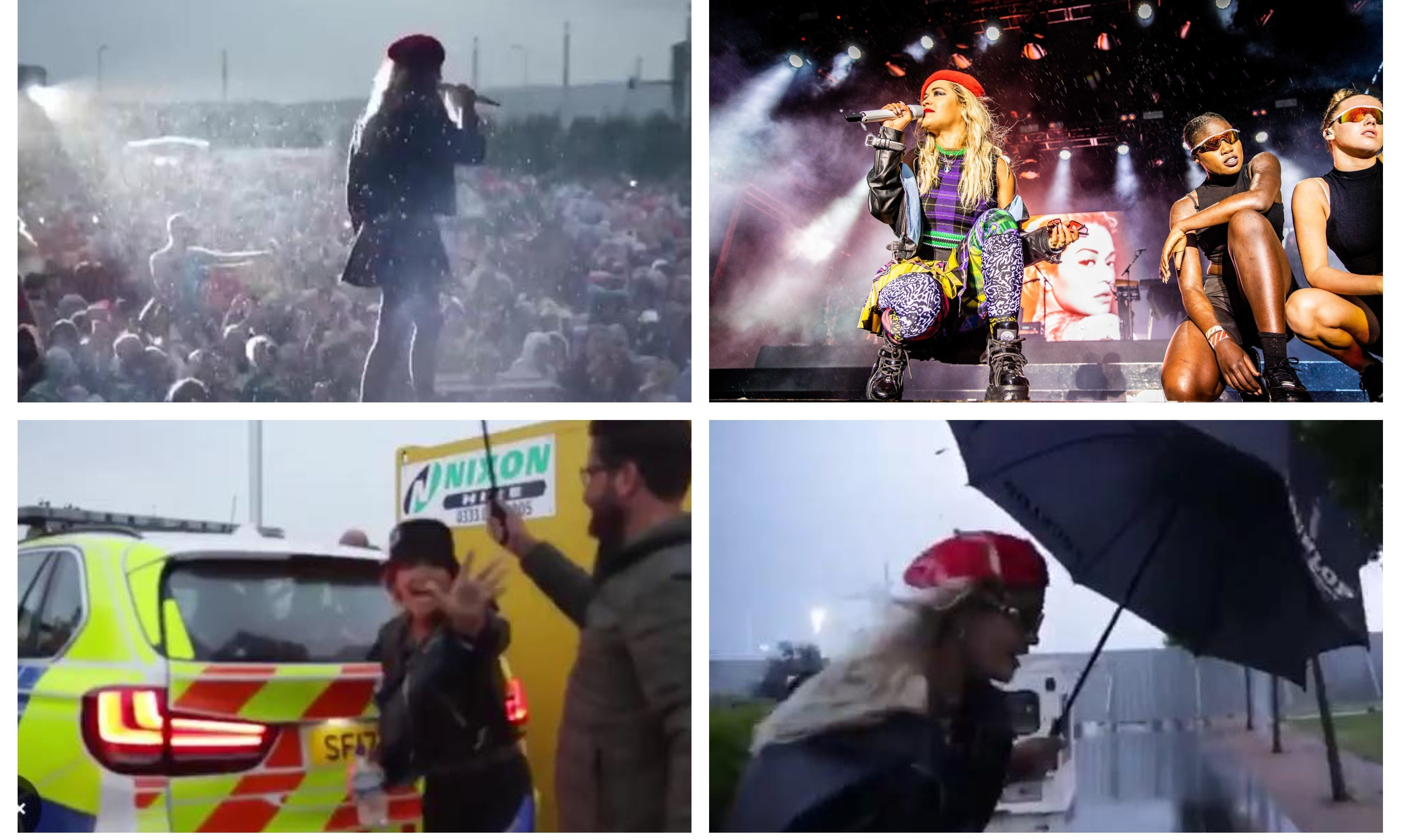 Rita Ora shared a video of her Dundee show, and the journey to it.
