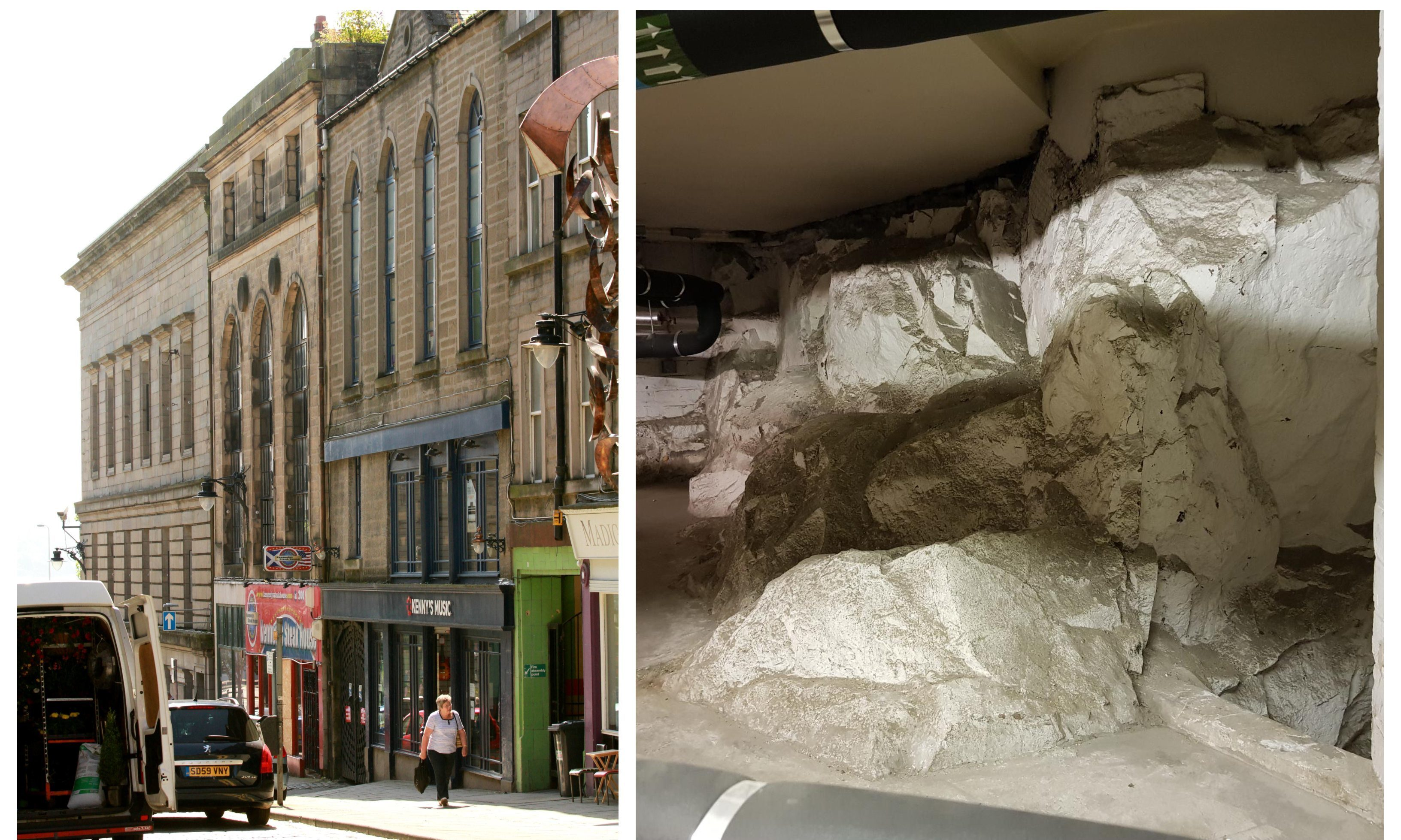 The remains of the historic building were unearthed on Castle Street.