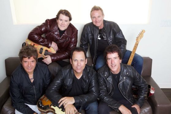 The Tearaways with Blondie's Clem Burke (front left).