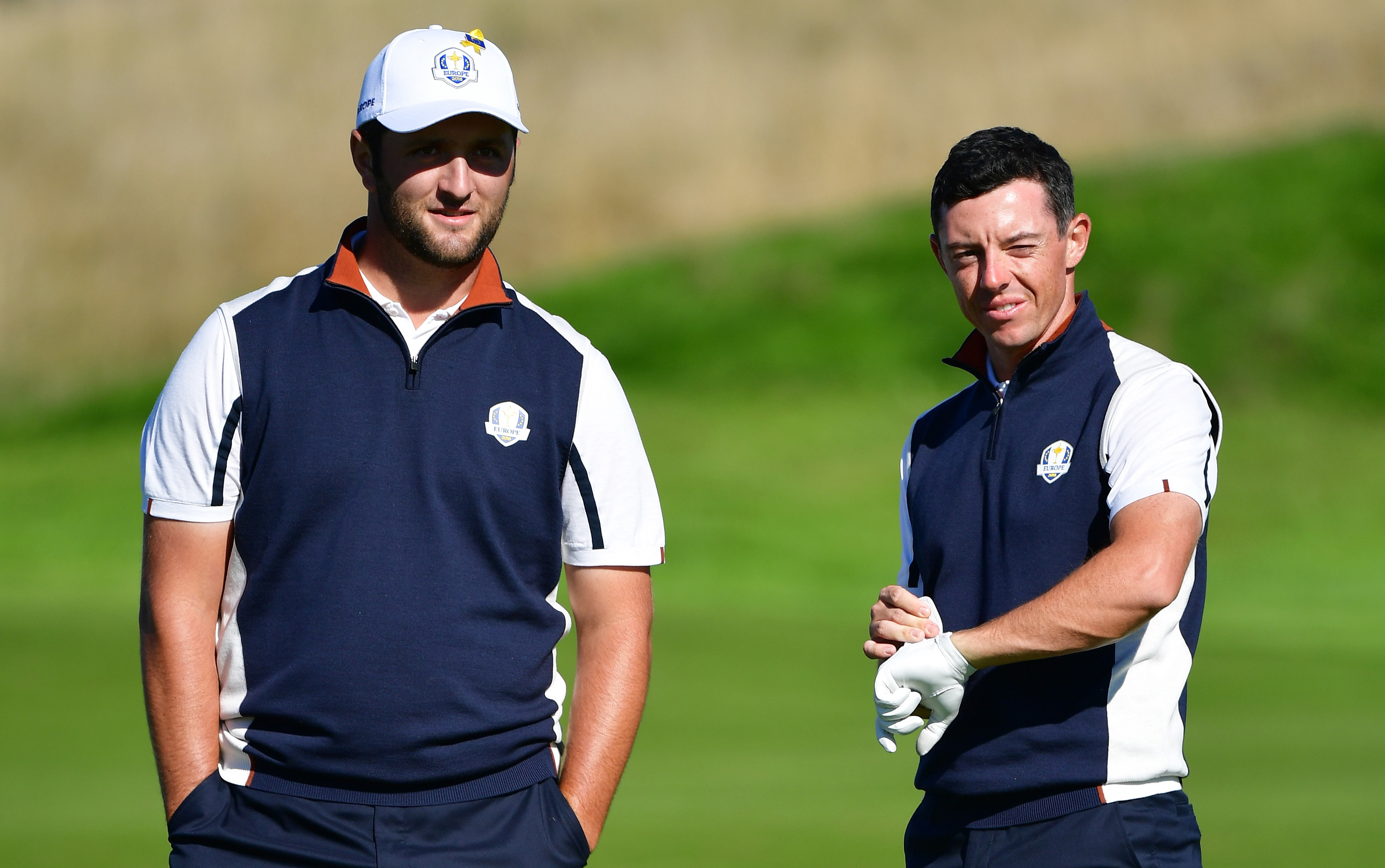 Rory McIlroy could be a partner for the excited Jon Rahm  for Europe this week.